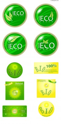 Eco energy saving label icon material