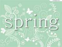 Fresh spring pattern background vector material