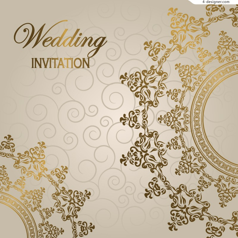 Wedding Invitation Backgrounds: Gorgeous European Style Wedding Invitation