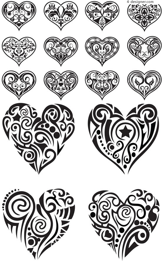 Heart shaped pattern pattern vector material