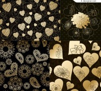Heart shaped pattern vector background material