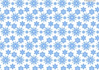 Ice blue snowflake background vector material