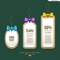 Lovely promotion tag vector material