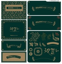 Several very delicate lace vector material