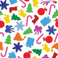 Two cute Christmas background EPS vector materials
