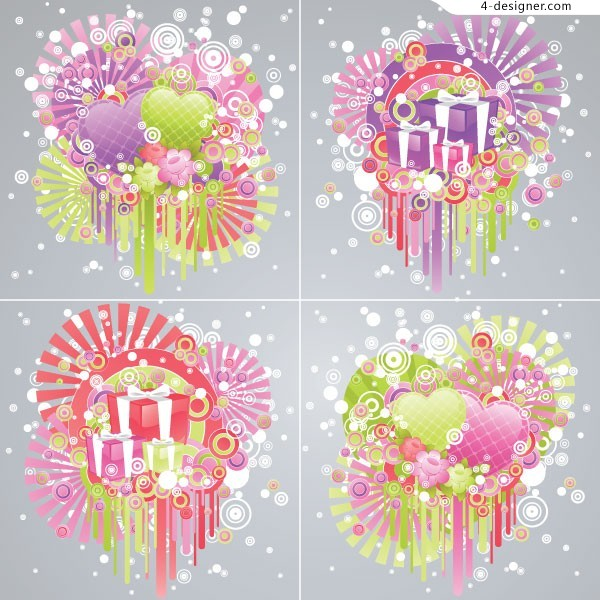 Valentine s Day exquisite gift EPS vector material