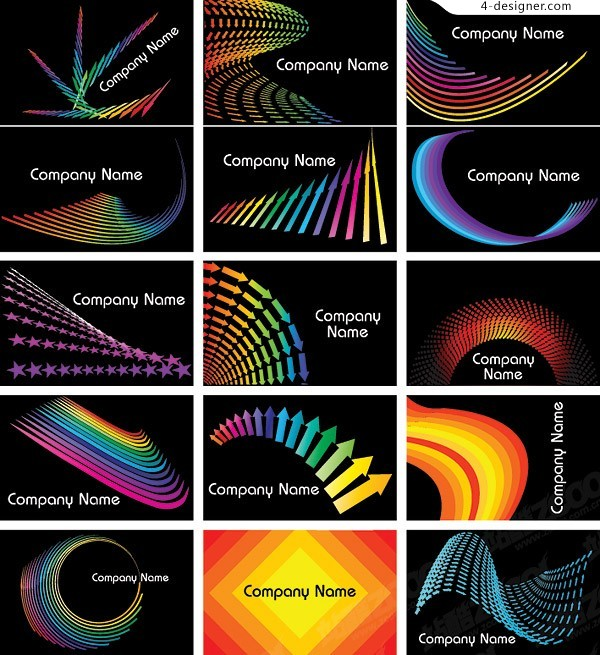 Variety Symphony background card template vector material