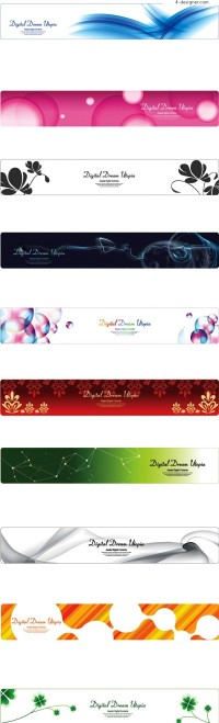 Variety of Korean style beautiful and practical banner vector material
