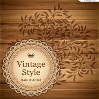 Vintage wood pattern background vector material