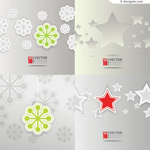 2013 Christmas background paper cut vector material