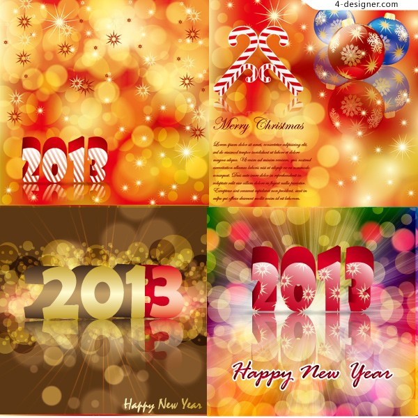 2013 Christmas colorful background vector material