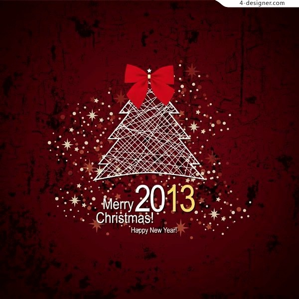 2013 Classic Red Christmas vector material