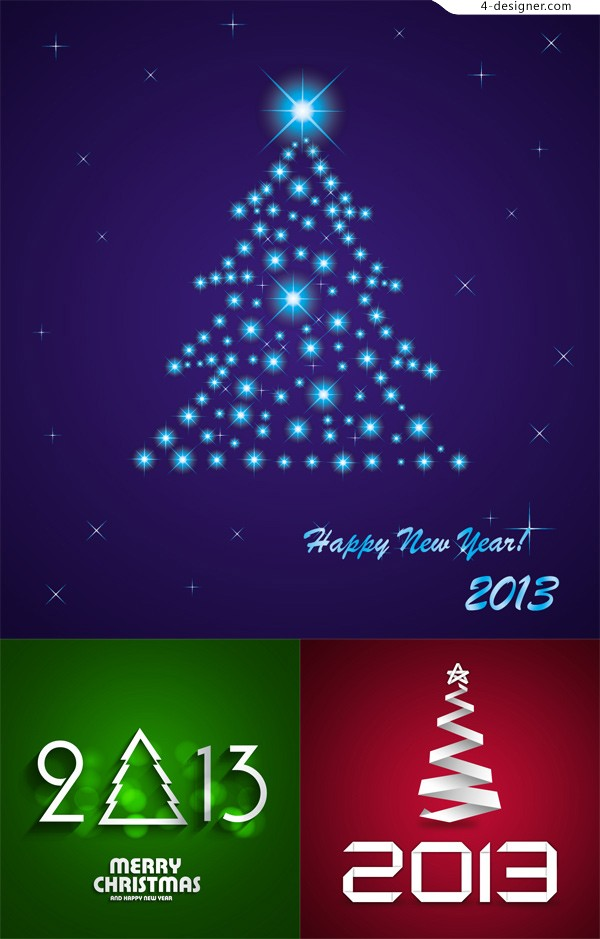2013 Creative Christmas tree vector material