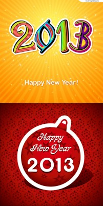 2013 Happy New Year background vector material