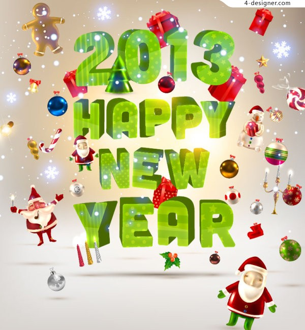 2013 Merry Christmas vector material