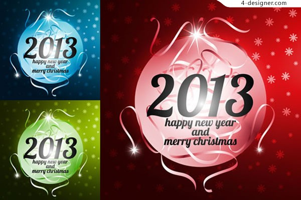 2013 New Year s ball vector material