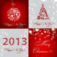 2013 Red Christmas vector material
