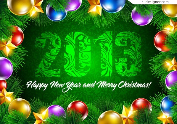 2013 colorful Christmas vector material