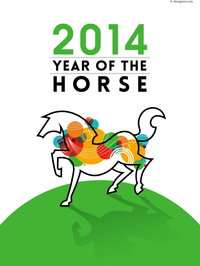 2014 Year of the Horse illustrator vector material