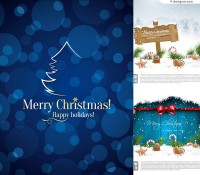 2014 beautiful Christmas background vector material