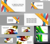 3 vector materials for designing stylish business card