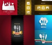 6 vector materials for designing restaurant menu