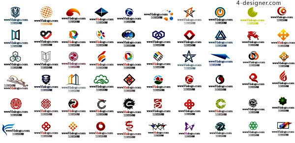 A variety of corporate vector logo design draft