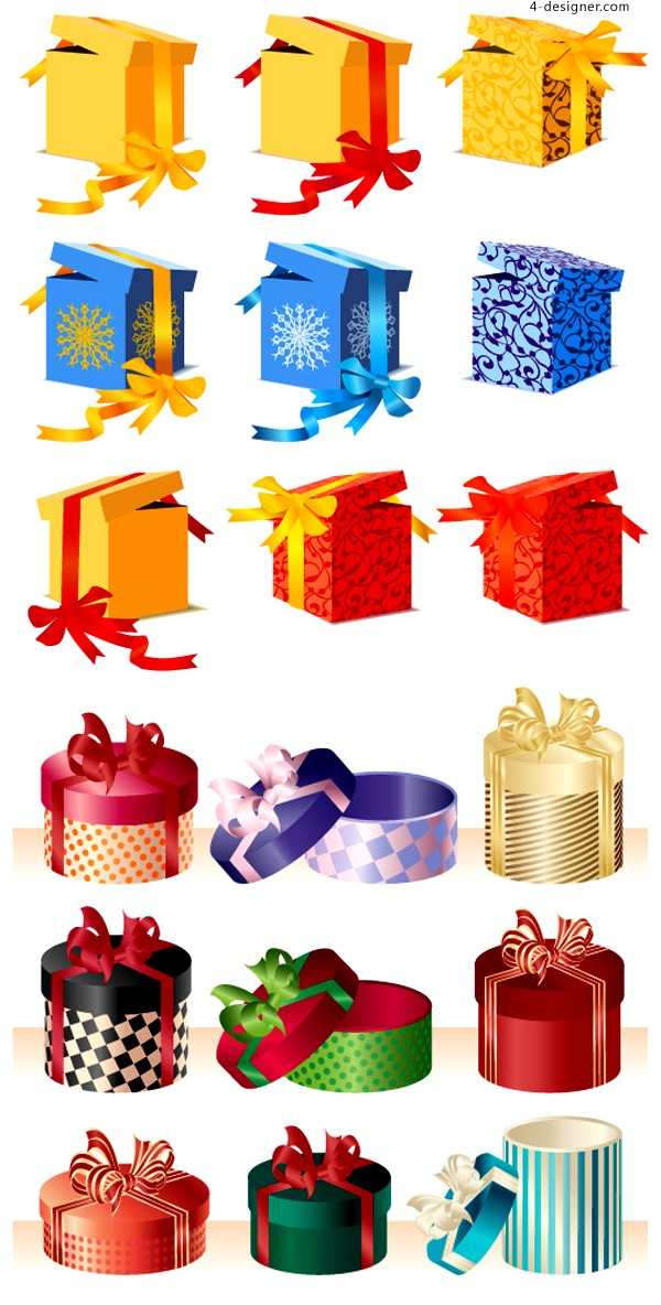 A variety of exquisite holiday gift vector materials
