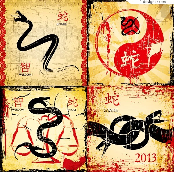 Antique Snake vector material