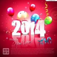 Beautiful 2014 festival poster vector material