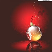 Beautiful Christmas balls vector material