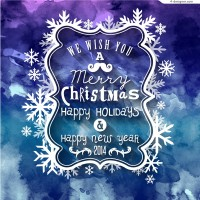 Beautiful Christmas snowflake frame background vector material