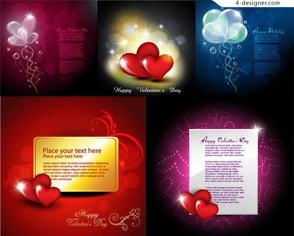 Beautiful valentine background vector material
