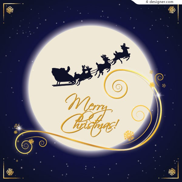Christmas Eve greeting card vector material