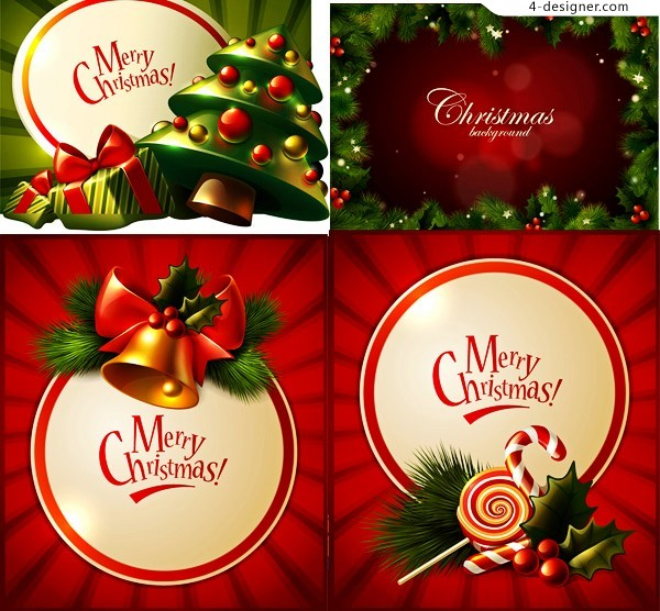 Christmas berry decoration vector material