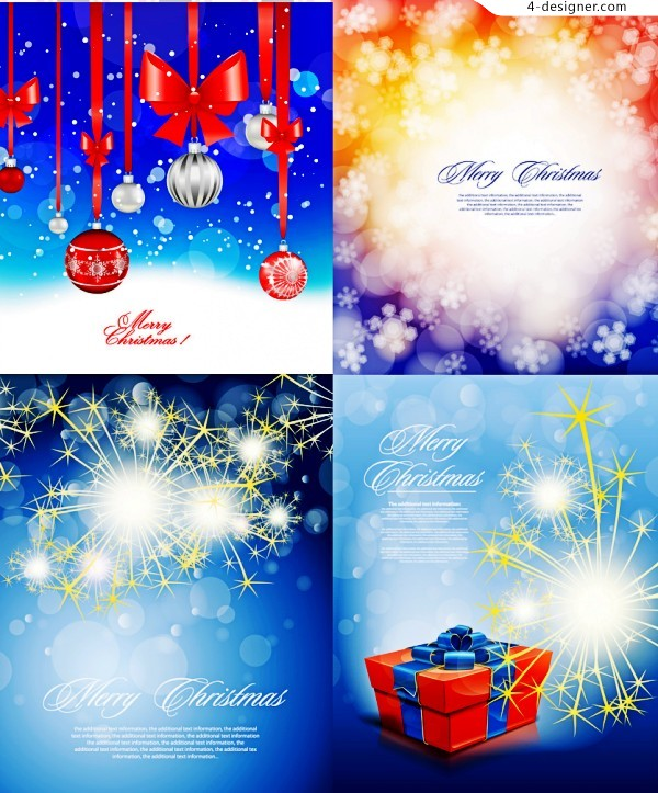 Christmas bright decoration vector material