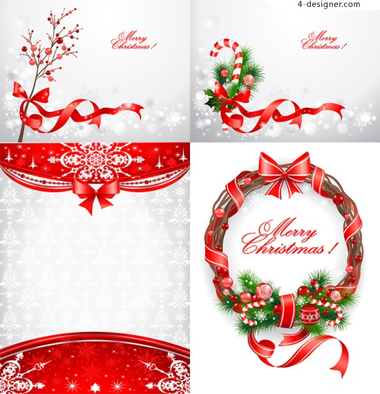 Christmas decorative background vector material