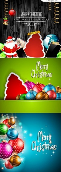 Christmas exquisite greeting card vector material