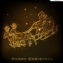 Christmas golden carriage illustrator vector material