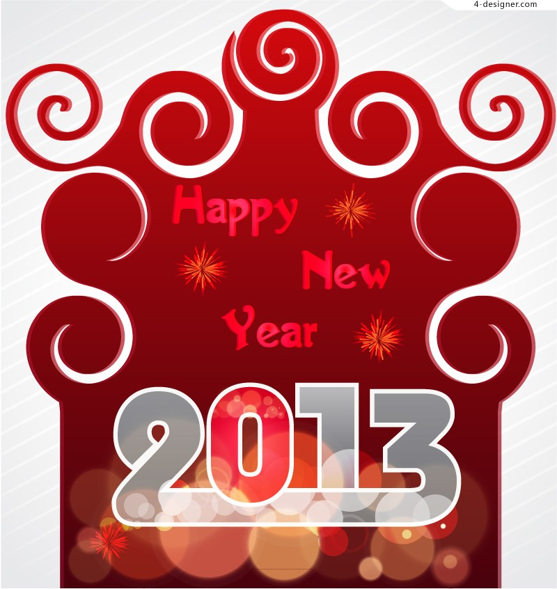 Creative 2013 New Year background vector material