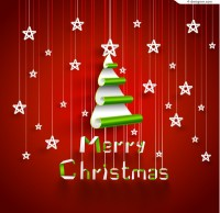 Creative Christmas tree background vector material