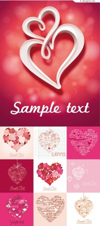 Creative love card vector material