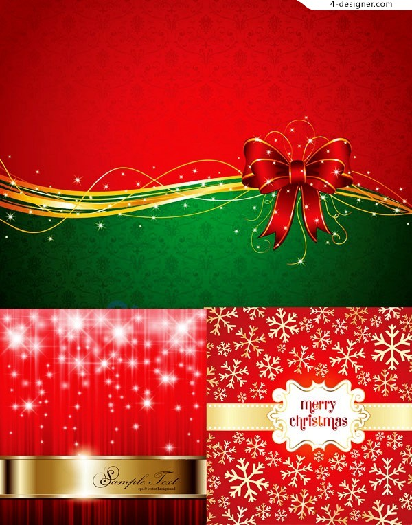 Exquisite Christmas background vector material