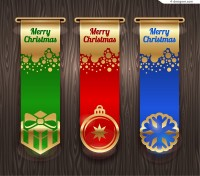 Exquisite Christmas banner design vector material