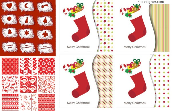 Exquisite Christmas decoration vector material