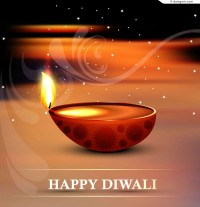 Exquisite Diwali poster vector material