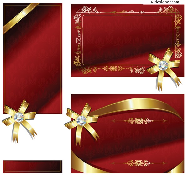 Exquisite holiday cards vector material