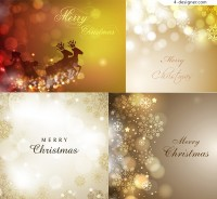Fantasy Christmas background vector material