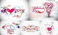 Fantasy Valentine s Day heart shape background vector material