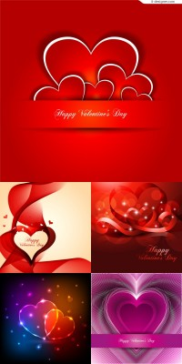 Fantasy love Valentine background vector material